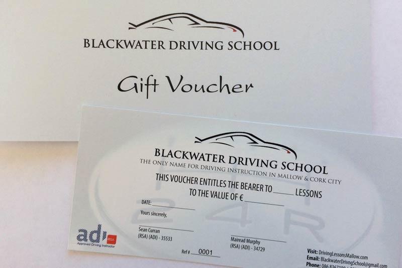 Driving school gift vouchers